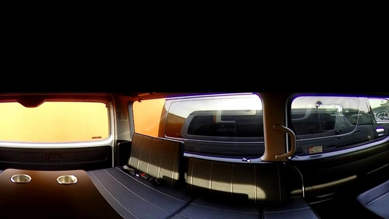360度動画 200系ハイエース flexdreamライトキャンピングカーFD-BOX4Tの対面レイアウト