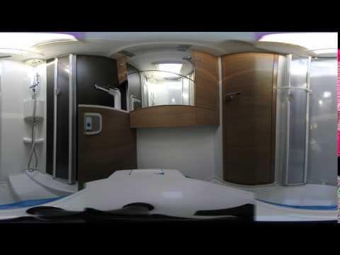 NIKON KeyMission 360 でキャンピングカーのトイレ・シャワー部を撮影