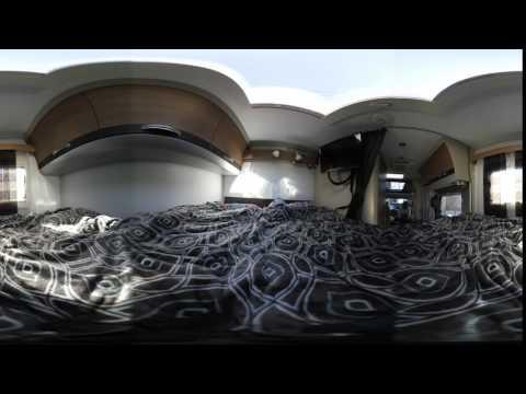 NIKON KeyMission 360 でキャンピングカーのベット部を撮影