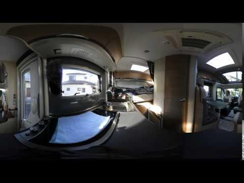 NIKON KeyMission 360 でキャンピングカーのキッチン部を撮影