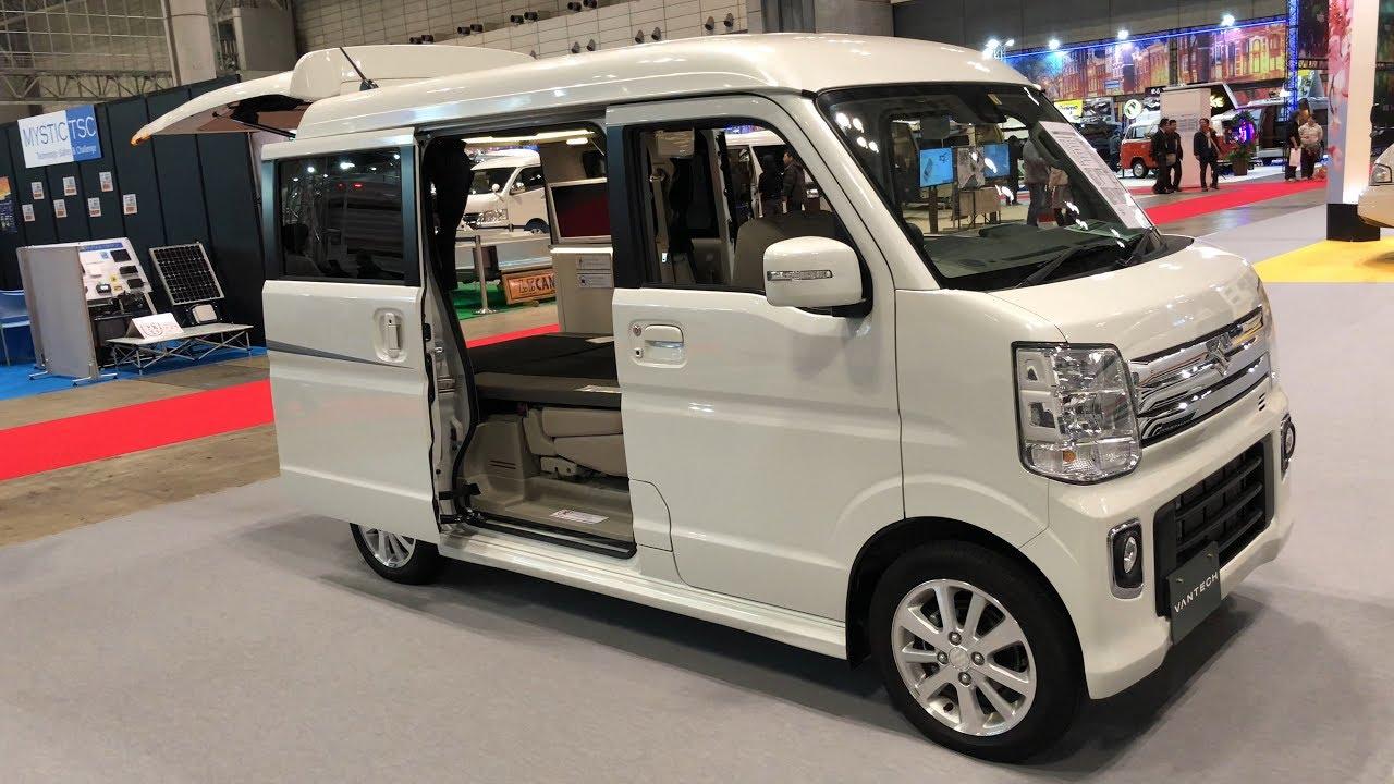 【4K60fps】【2018年最新型】軽キャンピングカー(軽自動車)Lunetta(ルネッタ)車中泊(オートキャンプ)JAPAN CAMPING CAR SHOW